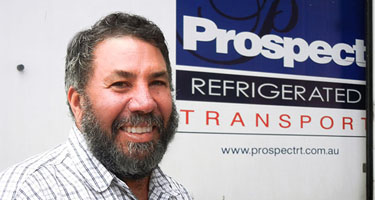 Cool website with Freight2020 Online for industry veteran Prospect Refrigerated Transport