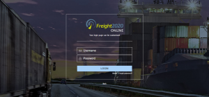 Freight2020 Online Customer Portal screen demo