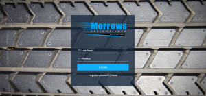 Morrows Freightlines customised login page