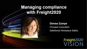 Denise Zumpe on trucking compliance