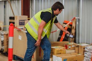 Transport depot RF scanning