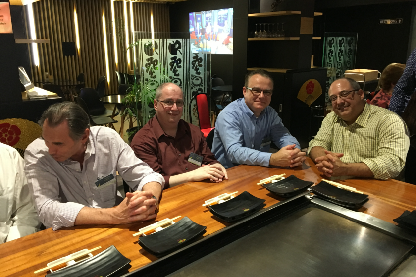 Progress representatives at Freight2020 VISION 2017 pre-event dinner