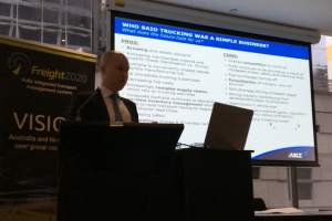Tim Suffield, ANZ, speaking at Freight2020 VISION 2017