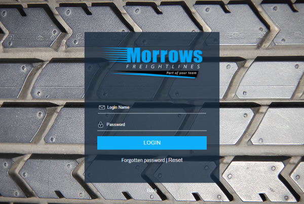 Freight2020 custom Morrows Login